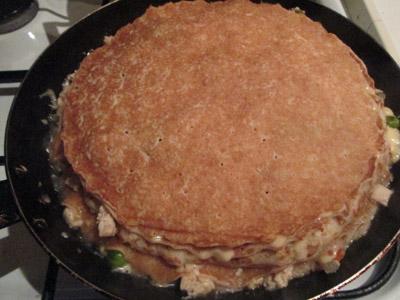 фото блинного пирога с начинкой