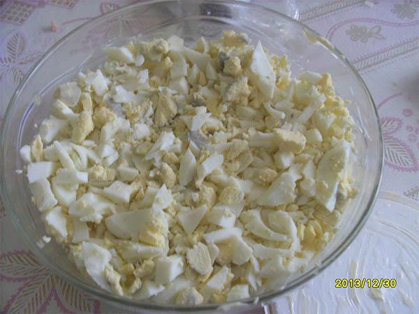 фото процесса приготовления салата нежность