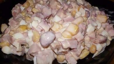 Photo of Салат с консервированной фасолью