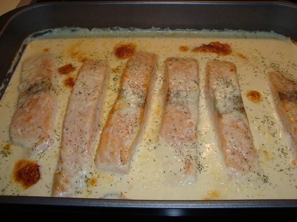 фото приготовления семги в духовке