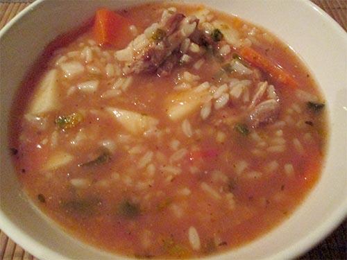 фото готового супа-харчо из баранины