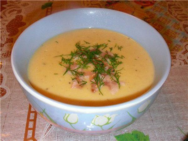 суп пюре с сыром