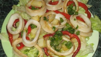Photo of Кальмары с овощами