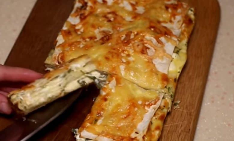 готовый пирог с сыром