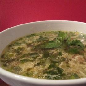 суп с мятой и беконом
