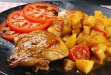 Photo of Картошка с курицей в соево-медовом соусе