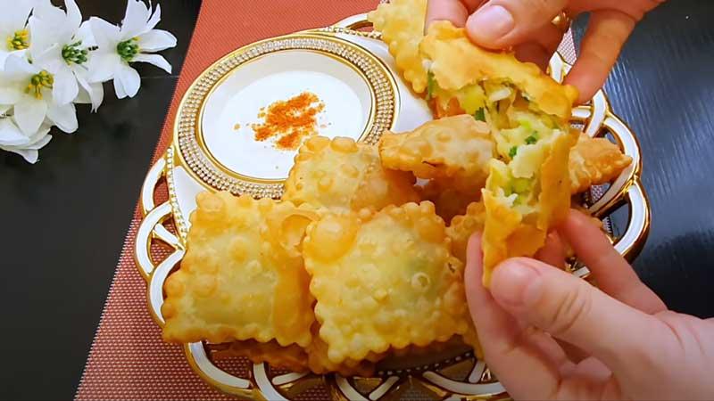 готовые квадратики с картофелем