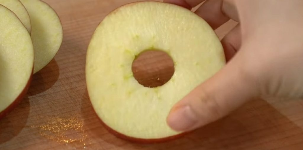 подготовка яблок для блинов