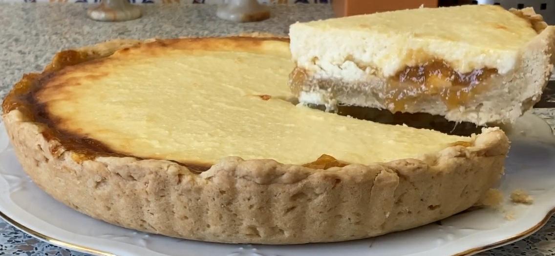 фото творожного пирога с джемом