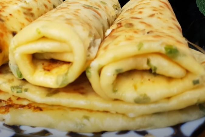 Кефирные лепешки с сыром и зеленью