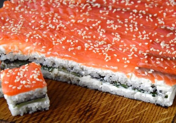 Суши торт (ленивые роллы)