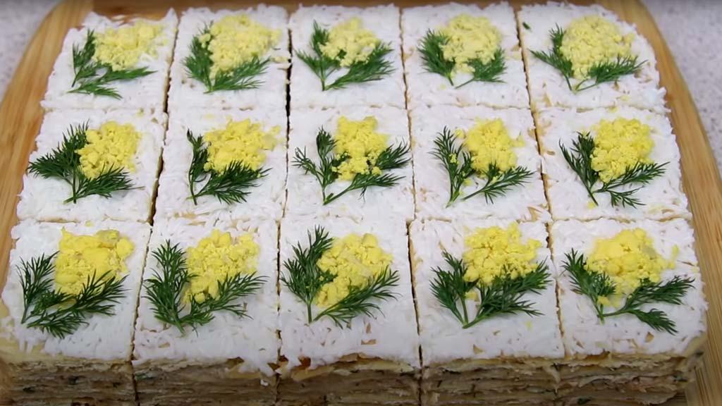 фото готовых пирожных мимоза