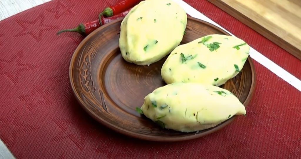 фото лепки картофельных зраз с сыром и ветчиной