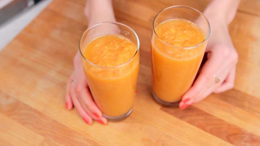 фото готового морковного смузи