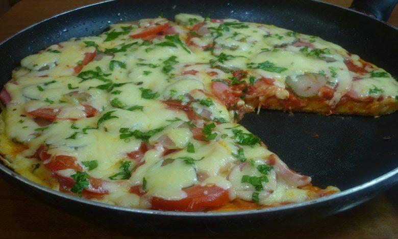 фото пиццы на сковороде