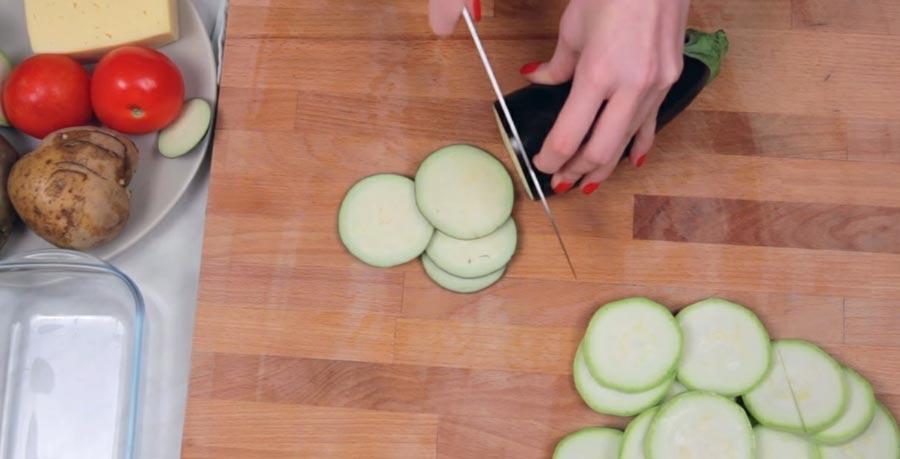 фото процесса нарезания овощей