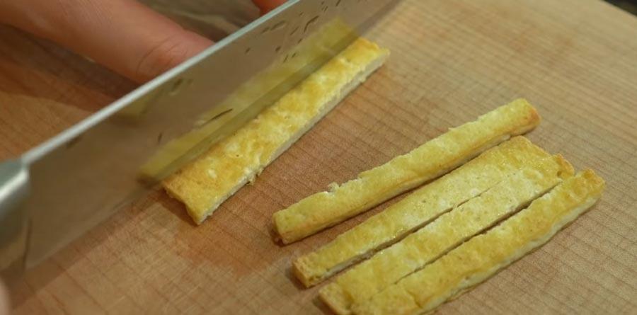 фото обжаренного сыра тофу