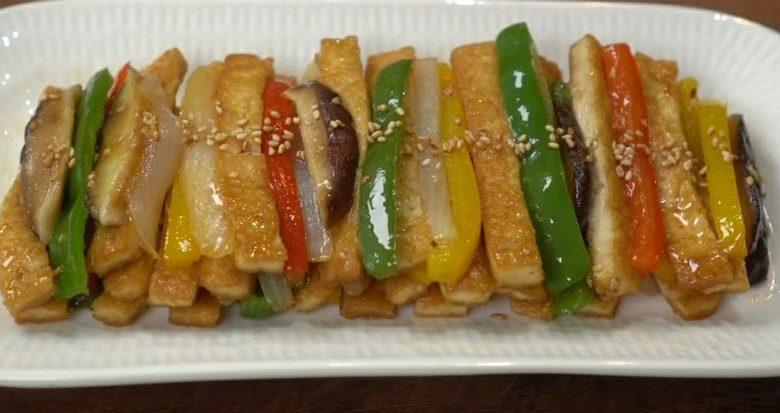 фото жареного тофу с овощами